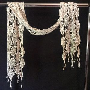 Off white lace scarf